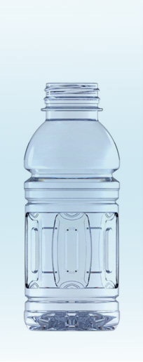 Heat Set 12 oz Panel PET Bottle